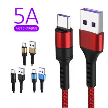 Dla Huawei Samsung akcesoria do telefonów komórkowych typ-c 5A kabel ładujący USB Super szybkie ładowanie linii danych kable telefonów komórkowych tanie i dobre opinie HAIMAITONG NONE TYPE-C CN (pochodzenie) USB A dropshipping