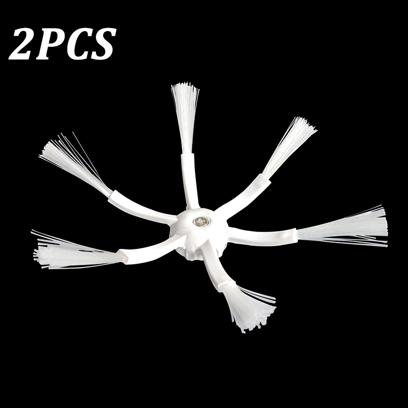 2PCS 6 Armed Side Brushes For Xiaomi For Roborock S50 S51 S55 MI Robot Vacuum Cleaner Brush Replacement Parts Accessories