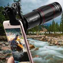 Universal 18X Telescope Zoom lens Monocular Mobile Phone camera Lens for Samsung Smartphones for Camping hunting Sports