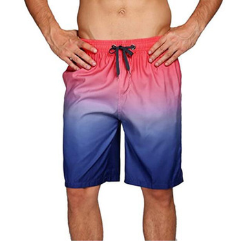 Mens Beachwear Casual Gradient sports gym shorts Swimming Beach Pants Swimming Loose Surf Trunks Board Quick-drying Shorts Q30 iidossan simple summer shorts men 2020 trunks beach board shorts holiday mens gym casual short pants sports surfing shorts