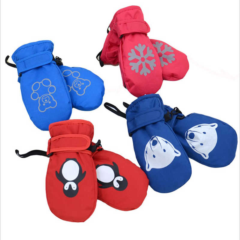 1-8y Brand New Baby Mitten For Winter Kids Gloves Boys Girls Outdoor Warm Gloves Waterproof Windproof