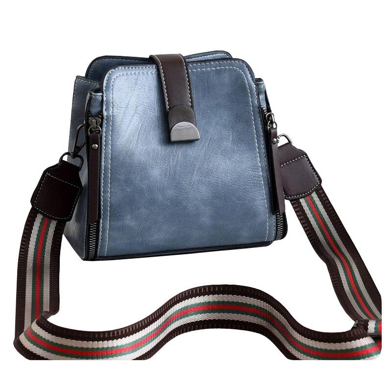 PU Female Shoulder Bags Women's Designer Messenger Bags Retro Stitching Ladies Leather Crossbody Bags Fashion Handbag for Girls