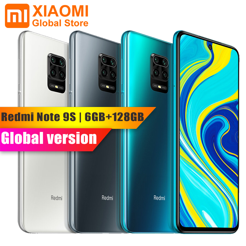 "Xiaomi Redmi Note 9S 6GB 128GB Global Version Smartphone Snapdragon 720G Octa Core 5020mAh 48MP Cam 6.67"" Note 9 S Mobile Phone(China)"