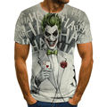 Футболка клоуна для мужчин и женщин, модные футболки с 3D принтом Джокера, размер XXS-6XL