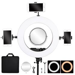 FOSOTO FT-R480 photographic Lighting 3200-5800K Ring lamp 480 Led Ring Light Mirror For Camera Phone Photo Studio Youtube Makeup