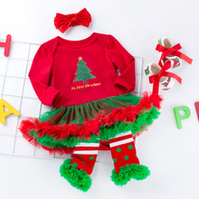 Newborn Baby Girl Clothes Brand 4Pcs Clothing sets Tutu Romper Infant 0-2T Christmas Boutique Outfits