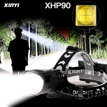300000LM USB Rechargeable Powerful XHP90/70/50 Led headlamp Headlight 3Mode Zoom head lamp flashlight torch Lantern for Camping