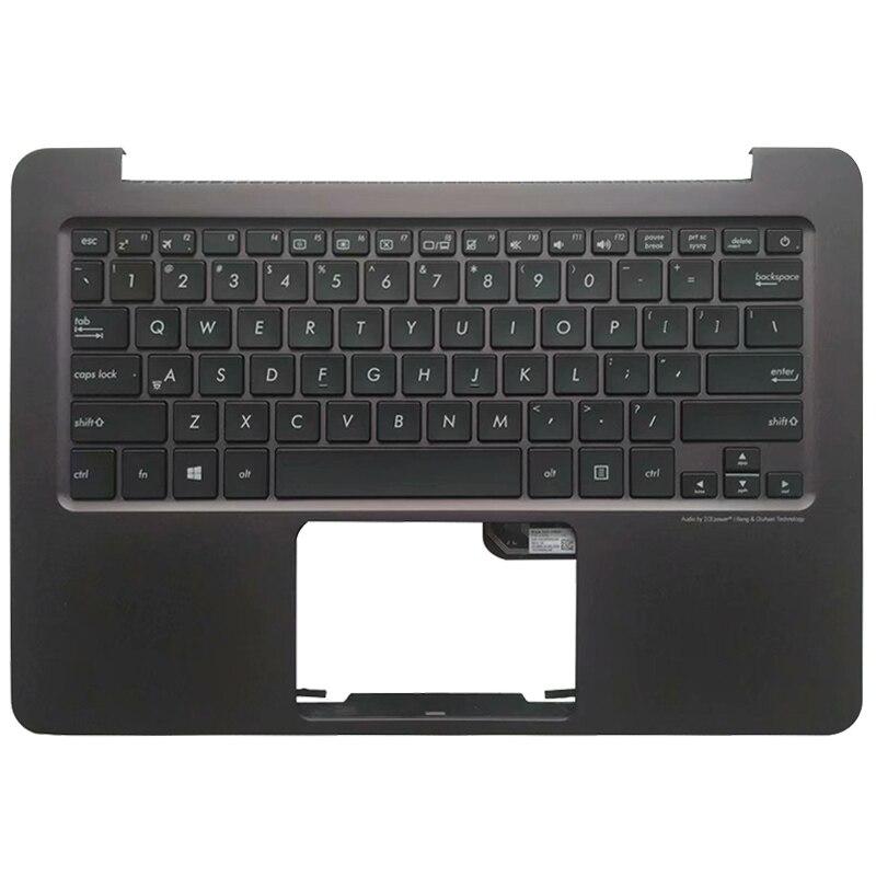 US Laptop Keyboard For ASUS Zenbook UX305 UX305LA UX305UA UX305CA UX305F Brown Palmrest Upper Cover