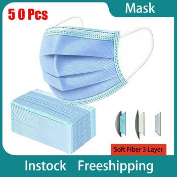 Masks 3 Layers Disposable Mask Dust protection Face Masks Dust Filter Safety Proof Flu Earloop Wholesale/Dropshipping