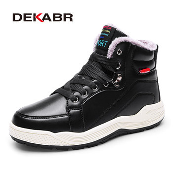 DEKABR Size 48 New Men Winter Fur Snow Boots Men Waterproof Ankle Boots Warm Shoes Non-slip High Quality  Outdoor Men Boots