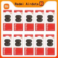 Xiaomi-auriculares Redmi Airdots 2 TWS con Bluetooth 5,0, auriculares estéreo de graves con micrófono, auriculares manos libres, 10 unidades