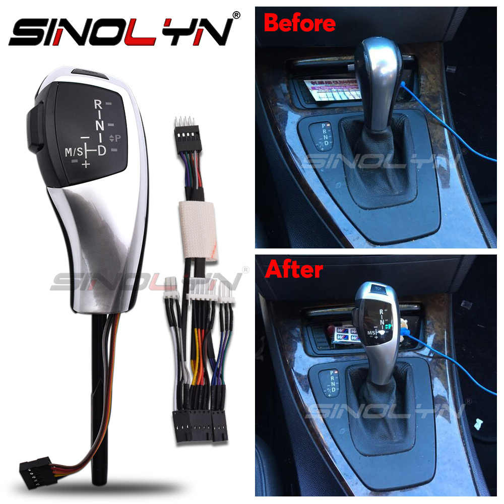 Black LHD Automatic LED Gear Shift Knob Retrofit Kit Fit for BMW E90 E92 E84 E89 for F30 Style Car Gear Shift