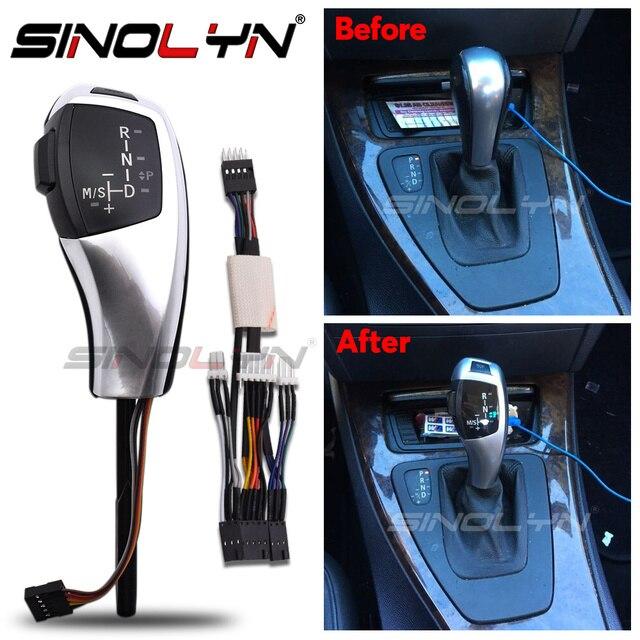 Palanca de cambio de marchas con luz LED, palanca de cambios para BMW 1 3 5 6 Series E90 E60 E46 2D 4D E39 E53 E92 E87 E93 E83 X3 E89, accesorios automáticos