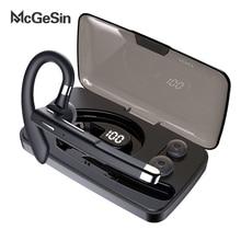 Bluetooth Handsfree Headset Mcgesin Noise-Canceling Earphones Wireless Bussiness Charging-Box