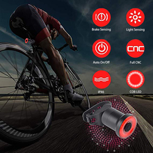 Buy Smart Bike Tail Light Ultra Bright Bicycle Light Rechargeable Auto On/Off IPX6 Waterproof LED Bicycle Lights Rear Accessories directly from merchant!