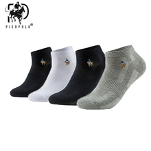 Pier Polo Men Socks Short Meskie Breathable 5pairs/Lot Brand Business Cotton Summer Thin Chaussettes for Dress Gifts Sox New