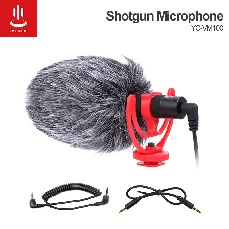 YICHUANG 3.5mm Audio Plug Professional Camera Recording Microphone cardioid mic for Camera DSLR Digital Smartphone