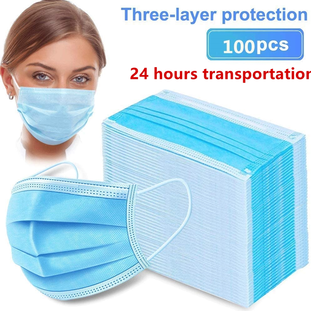 Disposable Protective PM2.5 Anti Pollution Mask Dust Protection Masks Mouth Muffle Allergy Asthma Travel 3-layer In Stock