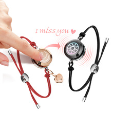 Exclusive Smart jewelry Couple Flash Bracelets & Accessori Adjustable length of drawstring Use To Anniversary Wedding Gift