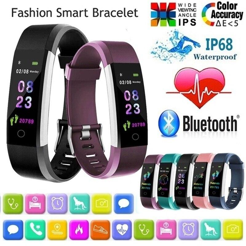 Pedometer Smart Bracelet Blood Pressure Heart Rate Monitor Sports Wristband Smart Watch Bands Health Fitness Tracker Waterproof