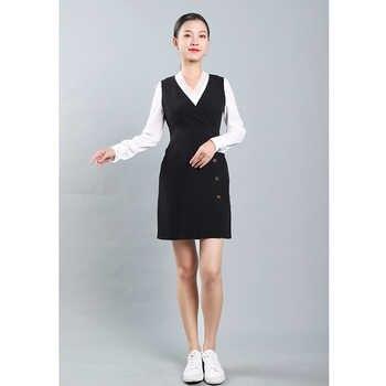 High-end professional suit Female hotel front desk work suit Fashion summer beauty salon work suit commuting two-piece set
