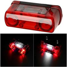 1PCS Waterproof LED Car Number Plate Light 12V 24V License Lamp for Truck Lorry Trailer Tail Red White