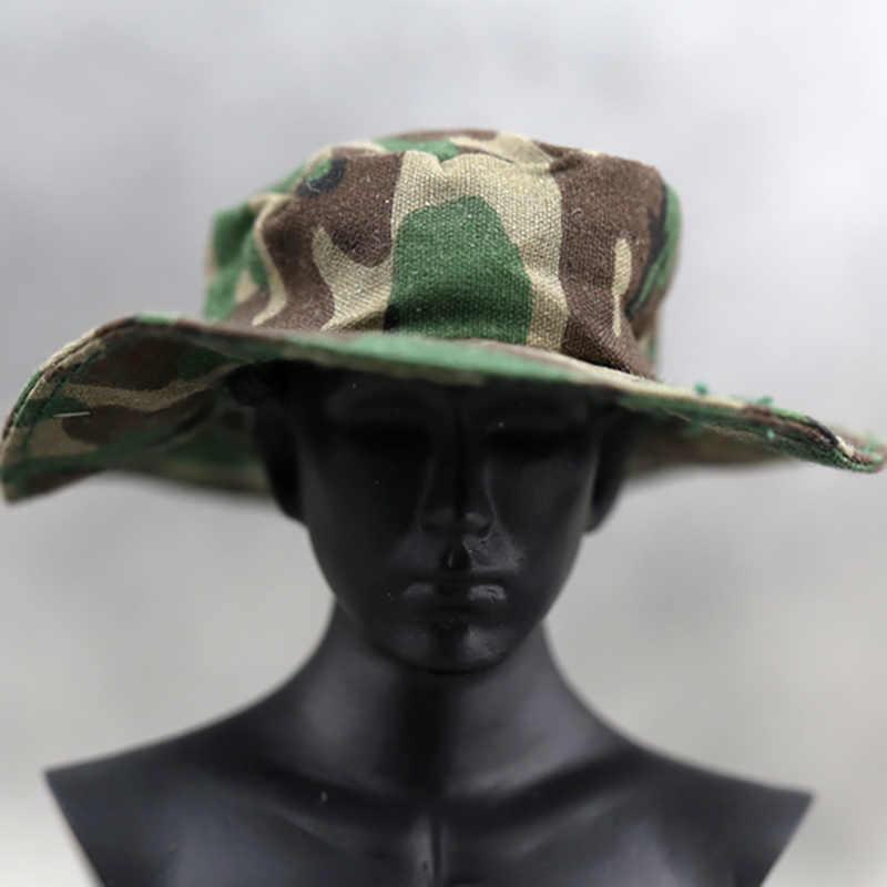 Мужская трендовая Кепка с козырьком 1/6, популярная мужская Кепка с рисунком солдата, Шерстяная кепка камуфляжной расцветки, Кепка для 12 дюймов, аксессуары для экшн-фигурки, модель