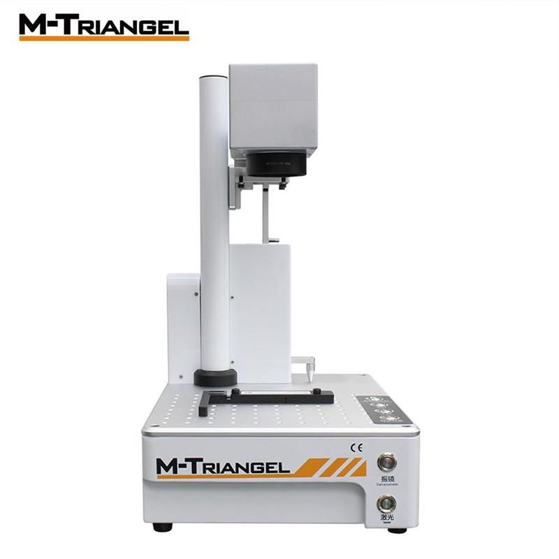 Machine de gravure de mise au point automatique du Laser 20W de Fiber de m-triangel pour le verre arrière d'iphone X XS XSMAX 8 8P 11 enlèvent la Machine de séparation de Laser