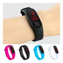 Quatro cores relógio digital das crianças led esporte relógio casual silicone para crianças relógios relógio de pulso pulseira