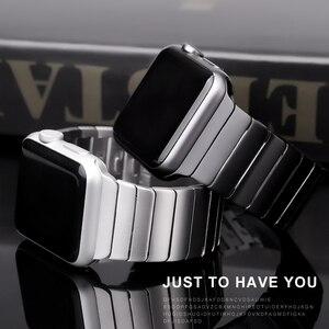Image 1 - Correa de acero inoxidable para Apple Watch, banda de 44/40mm para iWatch de 42mm/38mm, pulsera de Metal con hebilla de mariposa para Apple watch 6 SE 5 4 3