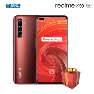 Оригинальный Realme X50 pro 5G Snapdragon 865 64MP Quad задняя камера NFC мобильный телефон 6,44 ''Супер AMOLED экран смартфон