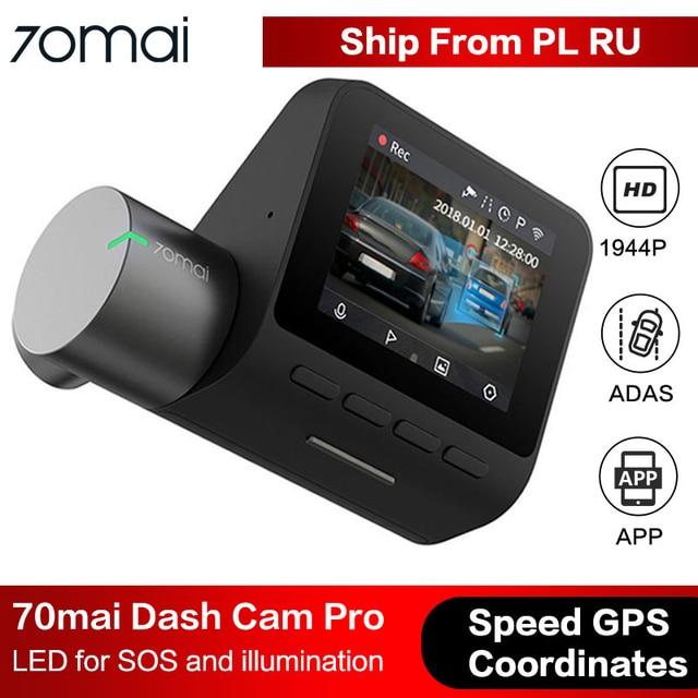 70mai Dash Cam Pro Smart Car DVR Camera Wifi 1944P HD GPS ADAS Voice Control Parking Monitor 140FOV Night Vision Dash Camera