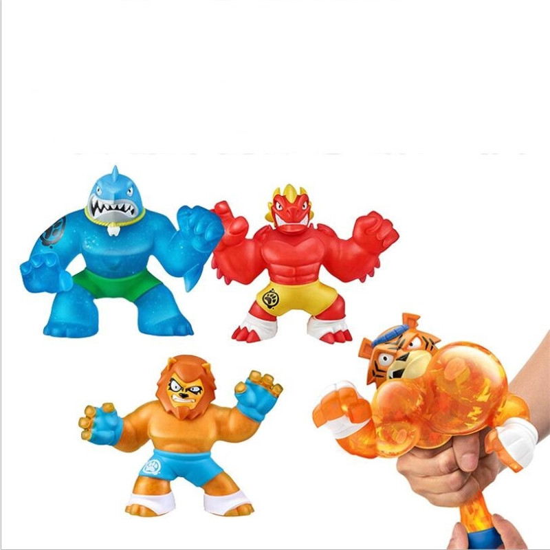 Супер Герои Go Jit Games Zu экшн-фигурки супер эластичные животные куклы резиновые мужские сжимаемые декомпрессионные вентиляционные игрушки дл...