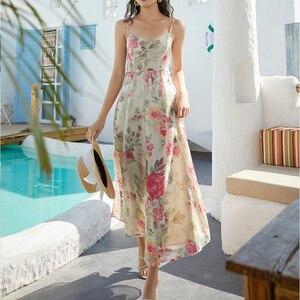 Новое поступление пляжных платьев с принтом для женщин 2020 летнее офисное сексуальное платье миди с открытой спиной для отдыха D02404K