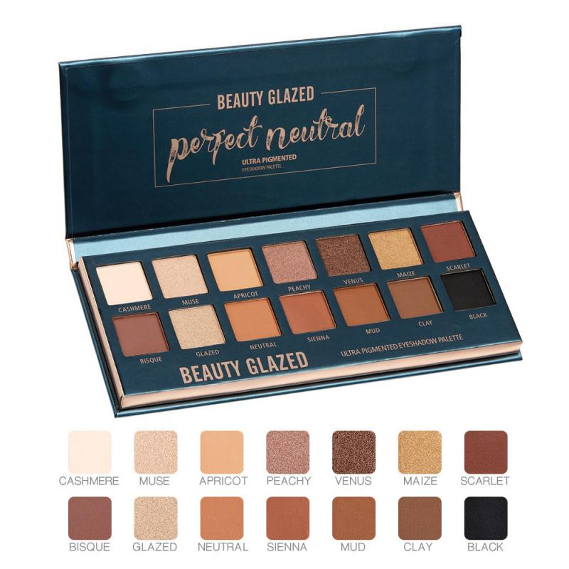New 14 Color Makeup Eyeshadow Palette Shimmer Matte Pigmented Smokey Eye Shadow Pallete Long-lasting Natural Cosmetics TSLM2