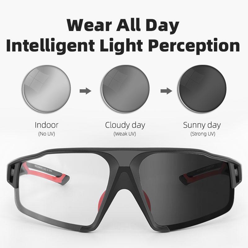 ROCKBROS occhiali da ciclismo fotocromatici occhiali da bici per bici sport occhiali da sole da uomo MTB occhiali da ciclismo su strada occhiali di protezione 2