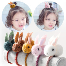 1pc Easter Rabbit Design Hair Bands 3D Plush Pet Cute Animal Kids Baby Clips Ponytail Children Accessories