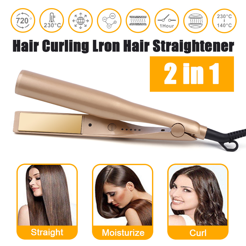 2 in 1 Twist Hair Curling & Straightening Iron Hair Straightener Hair Curler Curling Iron Wet & Dry Hair Styler Styling Tools-in Curling Irons from Home Appliances