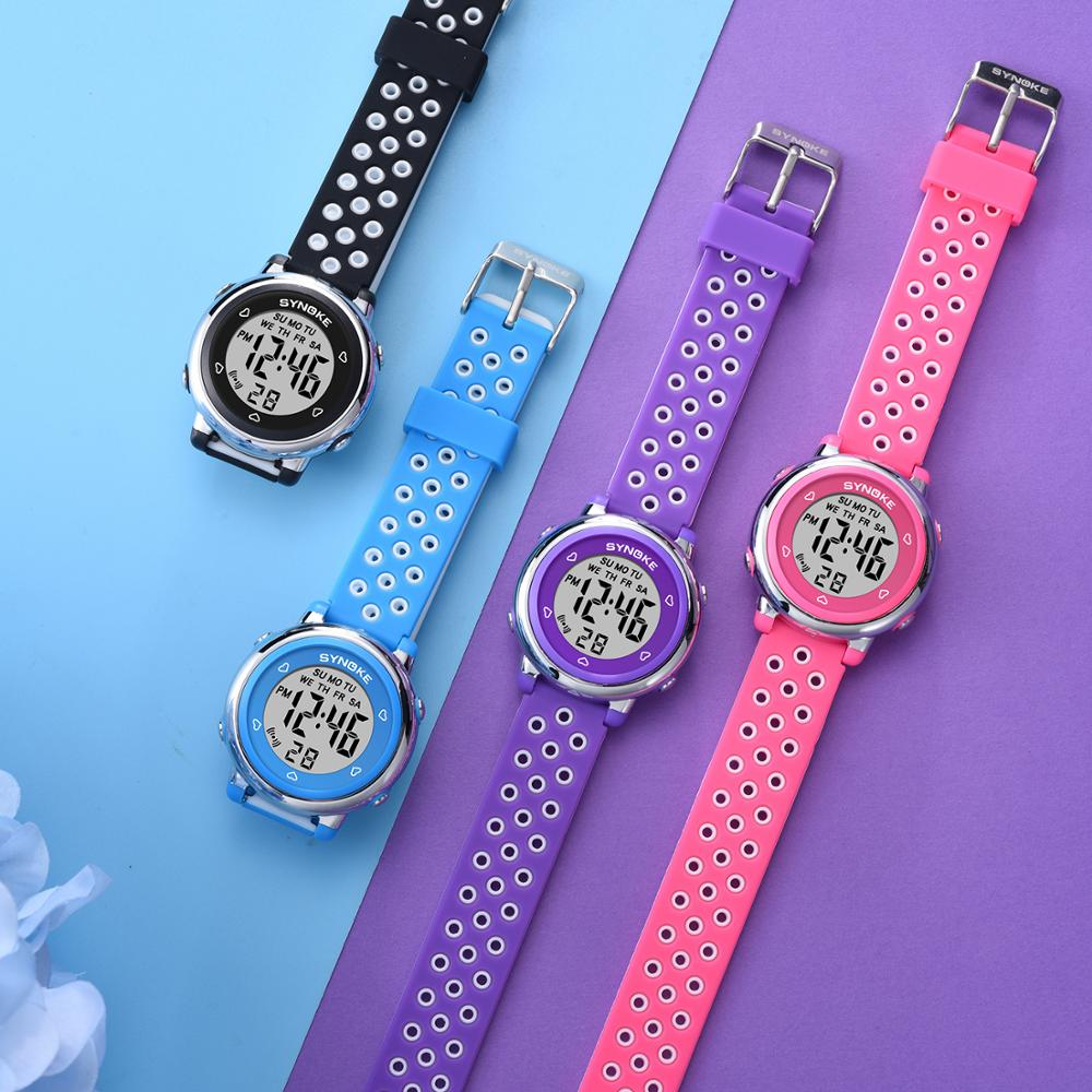 SYNOKE Colorful Children Digital Watches Luminous Sports Waterproof Students Watches Kids Electronic Watch For Boys Girls Gift