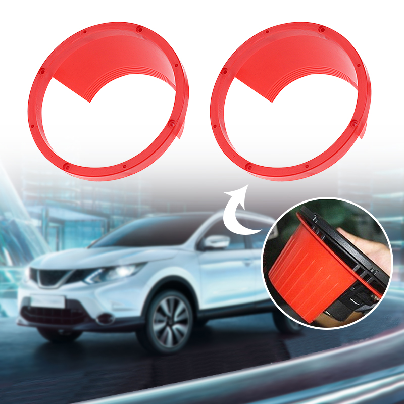Car Accessories 2 Pcs 6.5'' Car Front Door Speaker Mounting Bracket Spacer Ring Adapter Plates For Ford Honda VW Etc Car Styling
