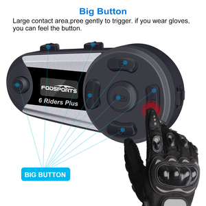 Image 4 - 2pcs Fodsports V6 בתוספת אופנוע קסדת אינטרקום אלחוטי Bluetooth אוזניות OLED תצוגת מסך intercomunicador moto FM רדיו