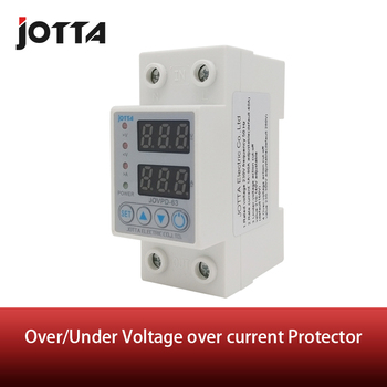 цена на 40A/63A 230V Din rail adjustable over voltage and under voltage protective device protector relay with over current protection