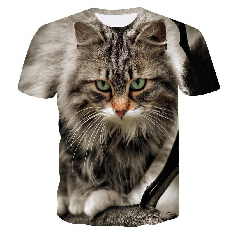 2019 New Cool   T  -  shirt   3D Men/Women Tshirt Print cat Short Sleeve Summer Tops   T     shirt   Male Breathable Fashion Short Sleeves