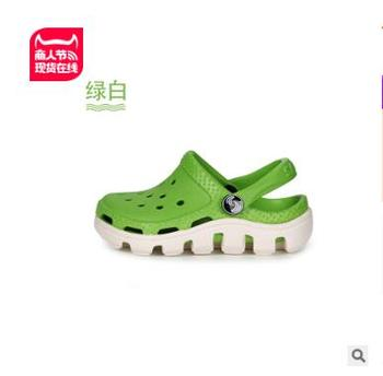 2-10y Kids Mules & Clogs Summer Eva Boys Girls Flat Sandals Breathable Soft Bottom Hollow Fashion Children's Beach Shoes Ly30 - as picture, 13.5