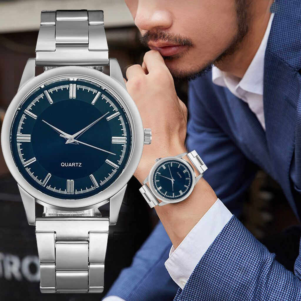 Pria Fashion Olahraga Bisnis Kasual Stainless Steel Mesh Belt Sederhana Dial QUARTZ Watch Mens Jam Tangan Reloj Hombre W2