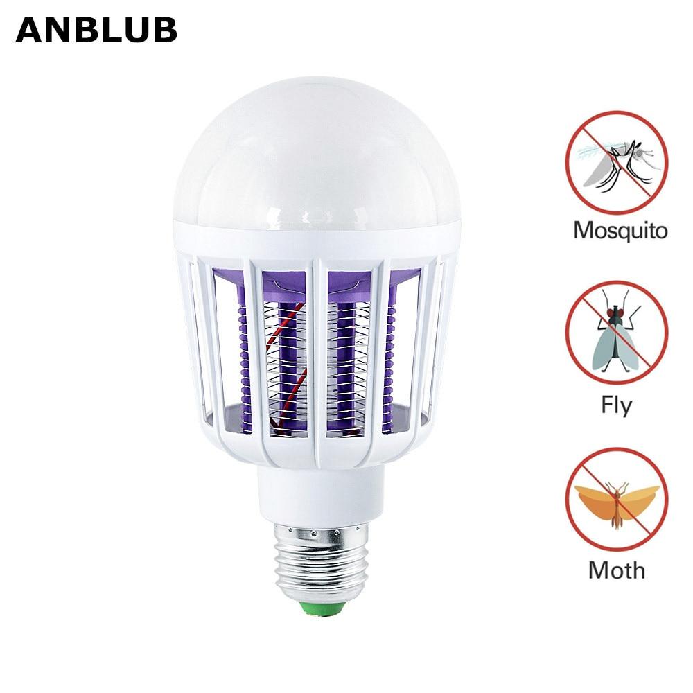 E27 LED Mosquito Killer Lamp 2 Modes 220V 110V UV Electronic Insect Trap Repeller Zapper Killing Fly Bug For Indoor Home 85-265V