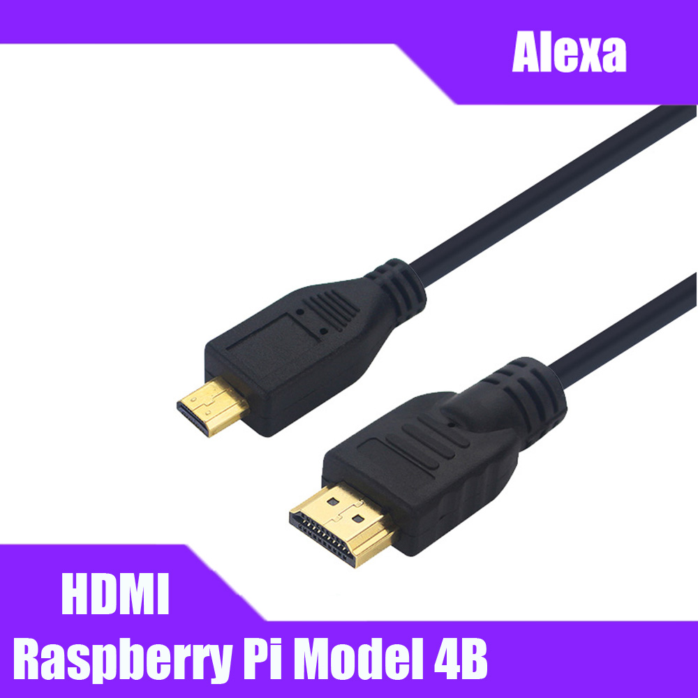 Raspberry Pi 4B Micro HDMI To HDMI Video Cable Support 4K HDMI Adapter Cord For Tablet HDTV Android Phone Raspberry Pi 4B 1.5M