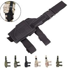 Rozmiar uniwersalny prawo pistolet kabura taktyczna wojskowa polowanie pistolet udo noga kabura dla Glock 17 19 23 32 36 Beretta M9 92
