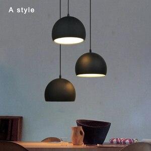 Image 2 - Semplice Pendente della sfera luci 20cm 25cm in Bianco e Nero E27 lampade a Sospensione Ristorante Apparecchio di Illuminazione