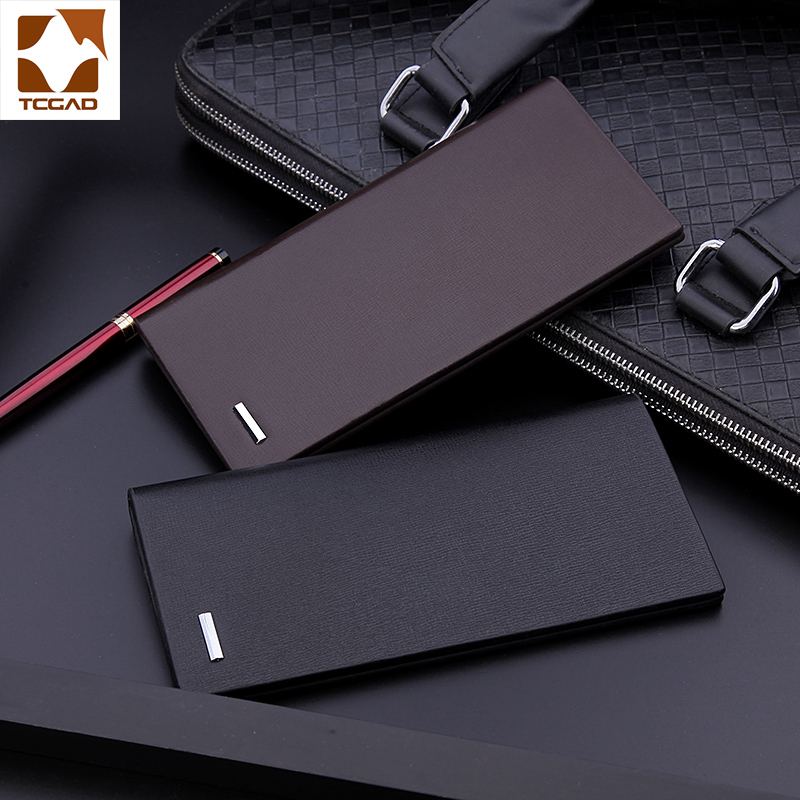 Male Wallet Porte Long Purse Microfiber Thin Genuine Masculina Men Hombre